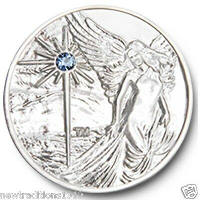 Shiny Silver Plated Guardian Angel Recovery AA /NA Coin/Medallion/Token/Chip