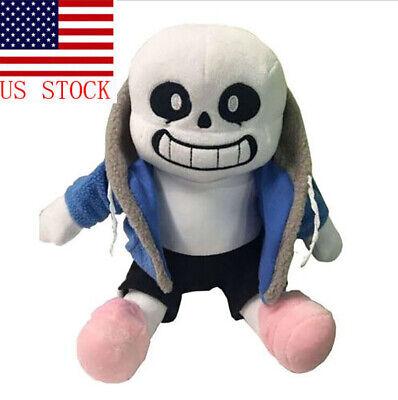 Undertale Sans Plush Stuffed Doll 8.5'' Hugger Cushion Cosplay Doll Kids Gifts