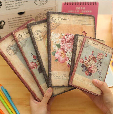 Floral Schedule Book Diary Weekly Planner Notebook Office Paper Suppl