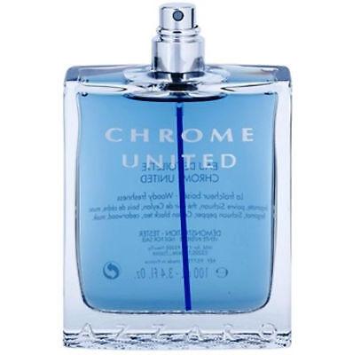 Chrome United By Azzaro 3 3   3 4 Oz Edt Spray Brand New Tester Cologne For Men