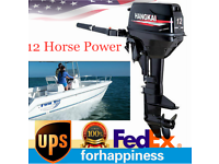 12HP 2 Stroke Outboard Motor 169CC Boat Engine w/ Water Cooling System CDI New