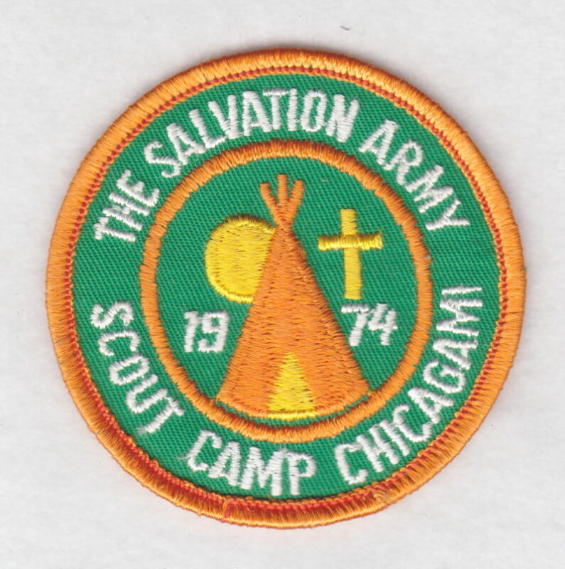 Salvation Army Patch:  Scout Camp Chicagami, 1974