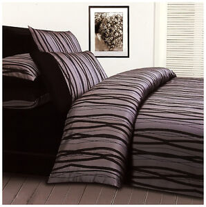 Trellis Quilt Doona Duvet Cover Set Bedding Jacquard Satin Stripes Modern New