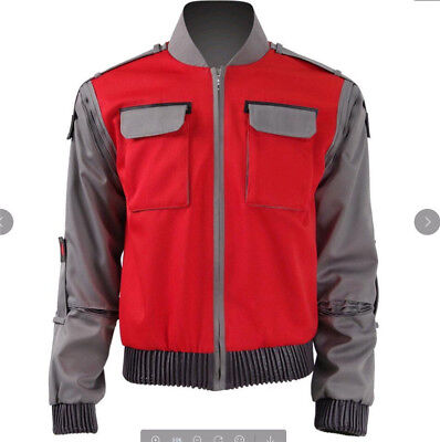 Back To Future Marty Mcfly Jacket Cosplay Costumes Adult Coat Unixes Top - Marty Mcfly Cosplay