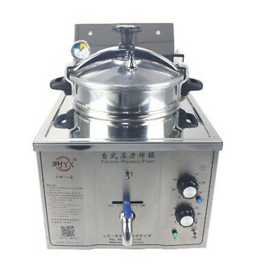 220v Commercial Electric Pressure Fryer 15l Electric Frying Oven 50-200c