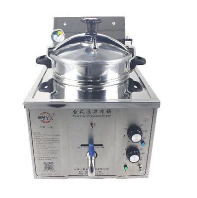 220v Commercial Electric Pressure Fryer 15l Electric Frying Oven 50-200c