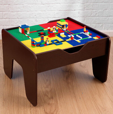 Kids Activity Table Childrens Lego Table Train Set 2 in 1 With 230 Accessories