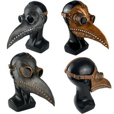 Pest Doktor Steampunk Vogel Leder Halloween Party Maske - Pest Doktor Schnabel Maske