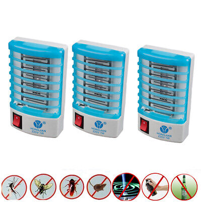 Indoor Insect Killer (3 Pack Indoor LED Electric Mosquito Fly Bug Insect Trap Zapper Killer Night)