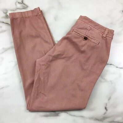 J. Crew 0 Pants Pink Sunwashed Faded Cropped Chinos