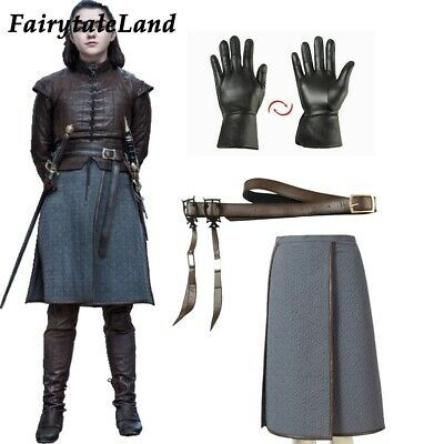 Game of Thrones Costume accessory Gloves Arya Stark cosplay Belt props scarf](Arya Game Of Thrones Costume)