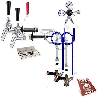 Kegco Kegerator 2-Keg Tap Door Mount Conversion Kit 100% Sta