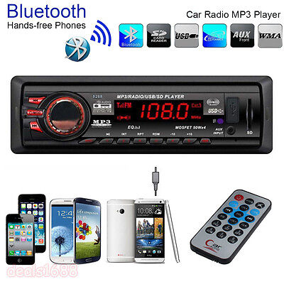 Bluetooth Car Stereo Audio In-Dash FM Aux Input Receiver SD USB MP3 Radio Player on Rummage
