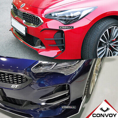 CONVOY Devils Claws Bumper Canards for Kia Stinger [Matte Black ABS]