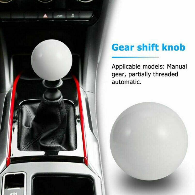 White Gumball Knob /& Adapter For Camaro Auto//Automatic Gear Shift Lever for Chevrolet Camaro