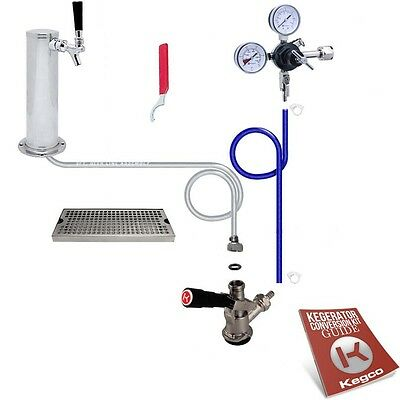 Deluxe Tower Draft Beer Kegerator Conversion Tap Kit - No Co2 Tank