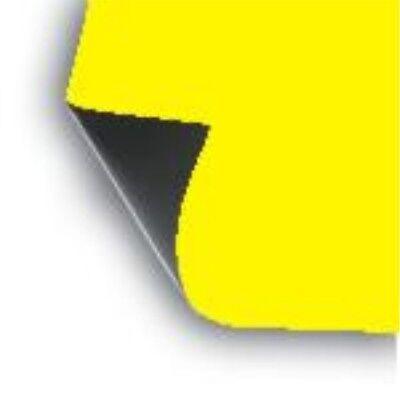 2 Pack 18 X 12 Sheet Flexible .30 Mil Magnet Blank Lt-yellow Magnetic School