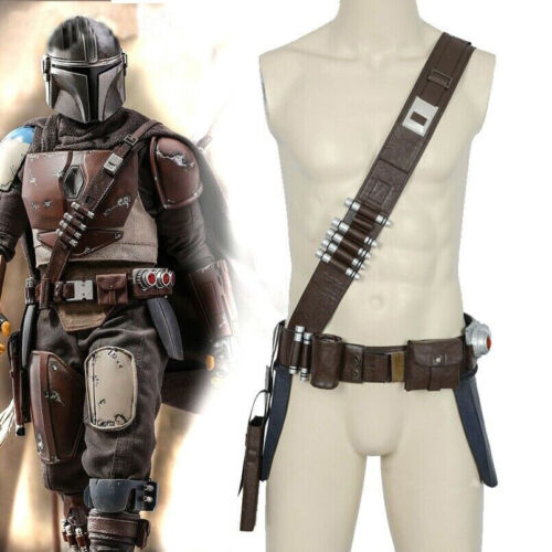 Star Wars the Mandalorian Cosplay Belt with Holsters Waist Props Soldier Straps