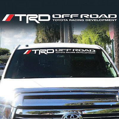 Toyota TRD Windshield Tacoma Tundra off road Racing 4x4 Decal Sticker Vinyl W-j