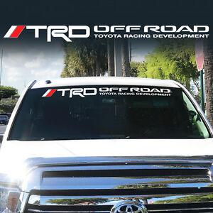 Toyota TRD Windshield Tacoma Tundra off road Racing 4x4 Decal Sticker Vinyl Wj