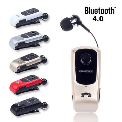 Business Headset Retractable Earphone Stereo Headset Bluetooth4.0 Clip Type GG Bluetooth Stereo Headset Clip