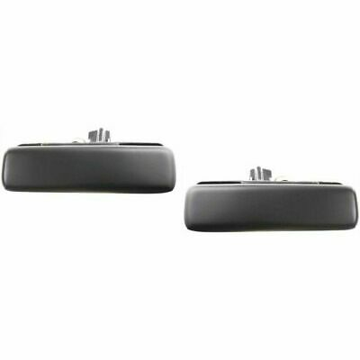 NEW Front Outside Door Handles Set RH LH Black Metal for 92-05 Astro Safari Van