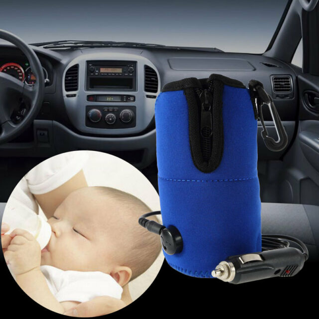 12V Food Milk Water Drink Bottle Cup Warmer Heater Car Auto Travel Baby SI