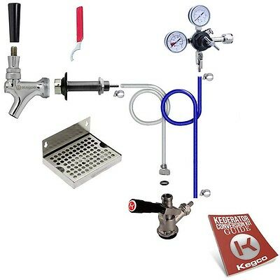 Kegco Deluxe Kegerator Conversion Kit Door Mount Draft Beer Sankey D Keg Tap