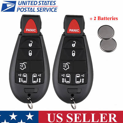 2X Keyless Remote Key Fob Replacement for Town & Country Grand Caravan IYZ-C01C