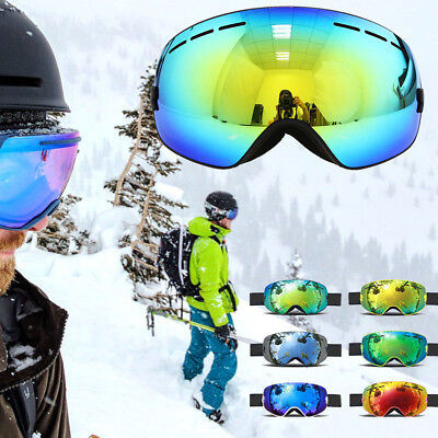 Lady Goggles - Snowboard Snowmobile Ski Goggles for Mens Womans Lady Unisex Colorful Frameless