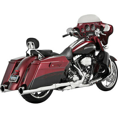 Vance and Hines Chrome Power Duals Head Pipes for Harley '09-'16