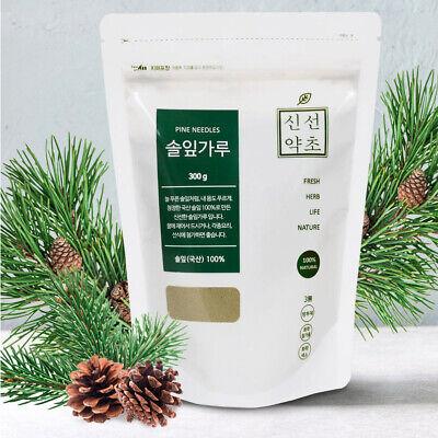 100% Natural Pine Needle Powder 300g Organic Medicinal Korean Herbal Powder