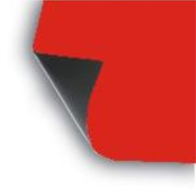 2 X 18 X 12 Sheet Flexible .30 Mil Magnet Blank Red Magnetic Sign