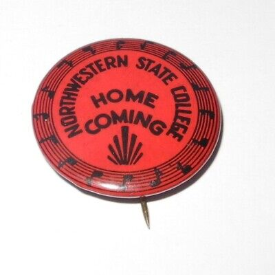 - 1940's Northwestern University Wildcats Band Football Pin Coin Button Pinback