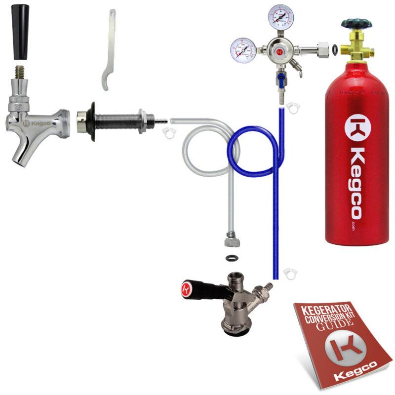 Kegco Kegerator Beer Tap Door Mount Keg Dispenser Conversion Kit 5 lb. CO2 Tank