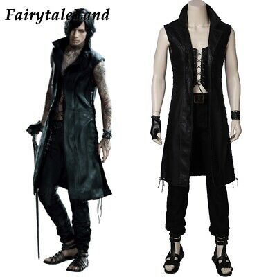 Devil Man Costume (Devil May Cry 5 V cosplay DMC 5 Suit Mysterious man Costume outfit props)
