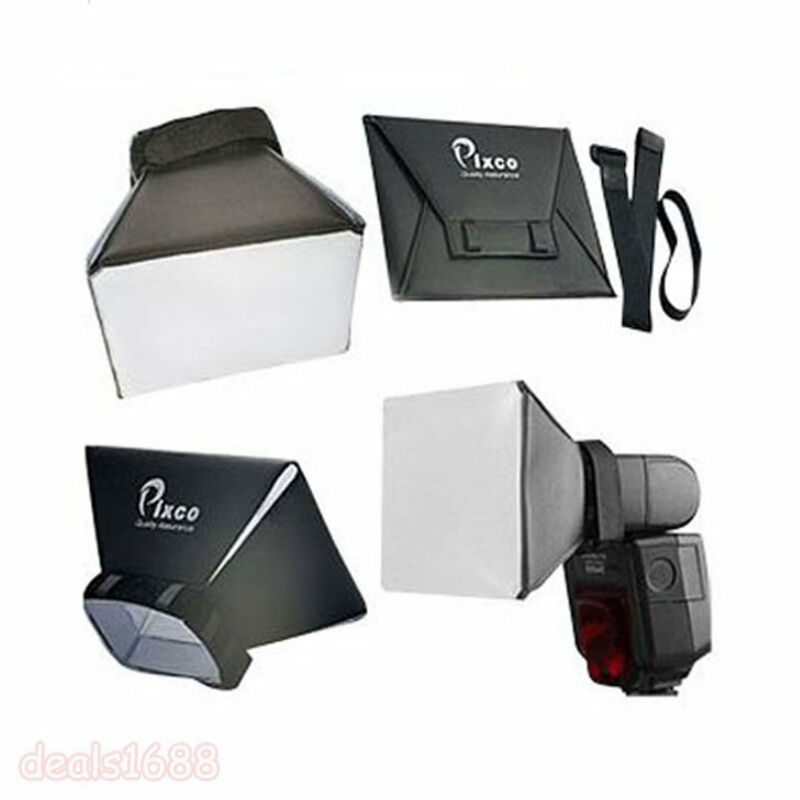 Universal Foldable Soft Box Flash Diffuser Dome For Canon Nikon Sony Pentax 2016