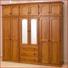 Wardrobe 12 Doors 3 Drawers Australian Made Solid Timber HUGE Sumner Brisbane South West Preview