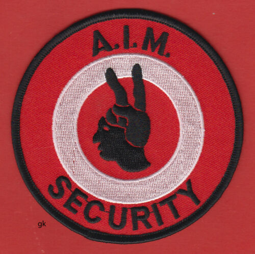 AIM AMERICAN INDIAN MOVEMENT  SECURITY SHOULDER  PATCH.