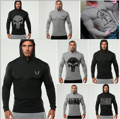 Muscle Fit Men Beast Gym Hoodie Bodybuilding Athletic Apparel Pullover Sweats