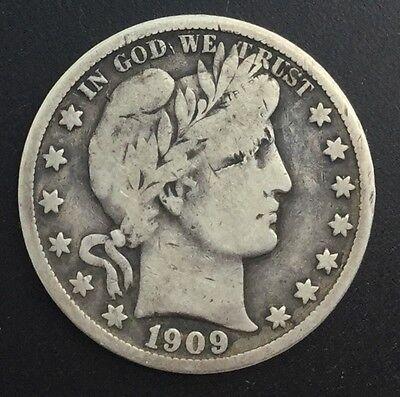 1909 S SAN FRANCISCO HALF DOLLAR  SILVER DECENT LOWER END COIN