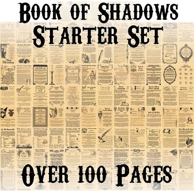 Book of Shadows, 100+ Pages, Wiccan, Witchcraft, Starter Kit Set, Pagan, New Age