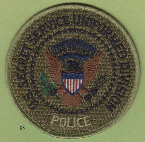 SECRET SERVICE UNIFORMED DIVISION POLICE SHOULDER PATCH  (Subdued)