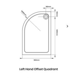 Quadrant shower enclosure and tray, 1200 x 900 BRAND NEW