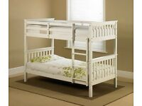🔥💗💥💗🔥BEST SELLING BRAND🔥💗💥💗🔥BRAND NEW 3FT WHITE WOODEN BUNK BED-CONVERTIBLE BED & MATTRESS