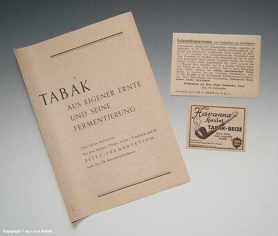 Papier-Konvolut Fermentieren von Tabak um 1946