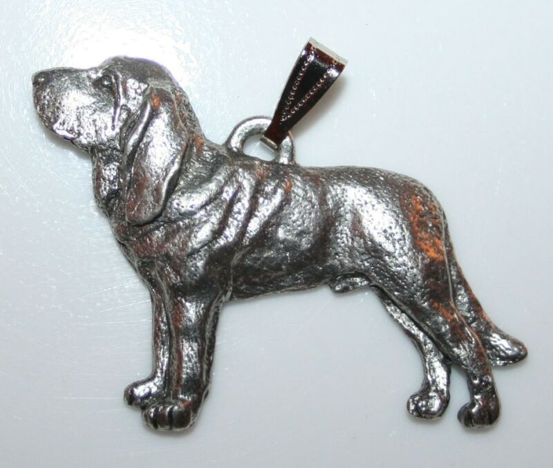 BLOODHOUND Dog Harris Fine Pewter Pendant USA Made