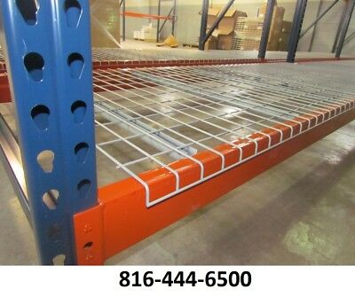 Pallet Rack Deck 42x46 Waterfall Wire Shelving Grid 2500 Lbs Cap New