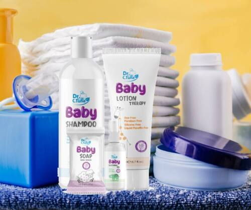 FARMASI BABY PRODUCT LINE by Dr C TUNA-GLUTEN FREE SHAMPOO OIL LOTION & SOAP