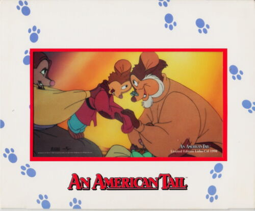 """""""AN AMERICAN TAIL"""" - LITHO-CELL 1998 - OVERALL ABOUT 10x8 INCHES"""
